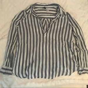 Tops - 100% Cotton Striped Shirt